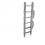 Folding ladder element