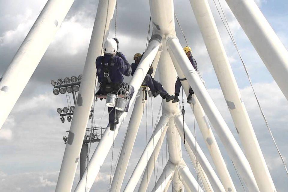 Rope Access klimtechniek FC Utrecht Galgenwaard Utrecht
