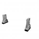 SAL020 CAD Set of 2 articulated hoof