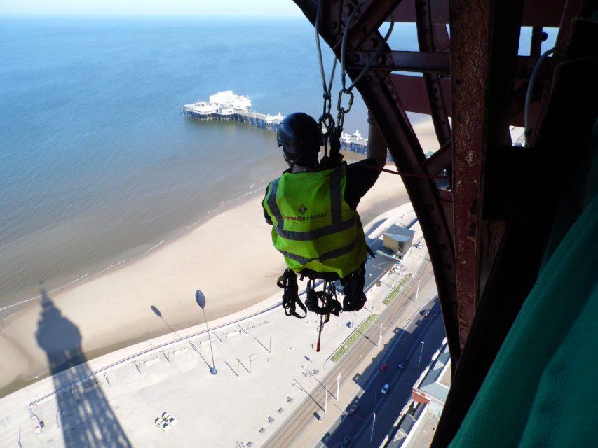 Valbeveiliging op The Blackpool Tower UK