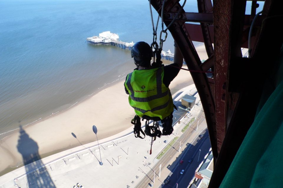 Valbeveiliging op The Blackpool Tower UK